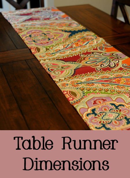 Dimensions of a Table Runner