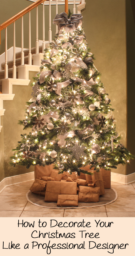 How to decorate a Christmas tree - what the pros do!